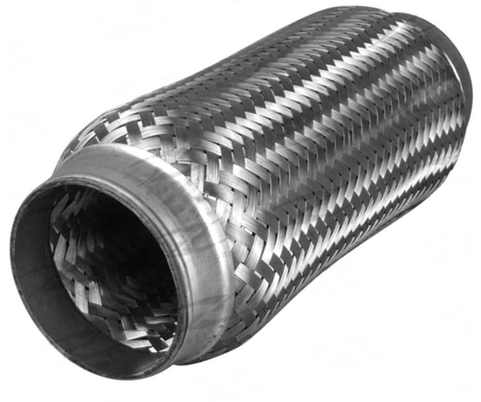 "2.5"" Stainless Steel Exhaust Flex Joint Bellow With Inner Braid 6"" long - Click to enlarge picture."