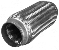"2.5"" Stainless Steel Exhaust Flex Joint Bellow With Inner Braid 6"" long"