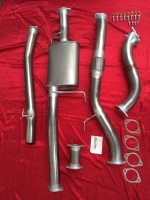 "Holden Rodeo RA 3.0L 3"" Exhaust 4x4 TD 2003-2005 NCRD No Cat Stainless Steel 409"