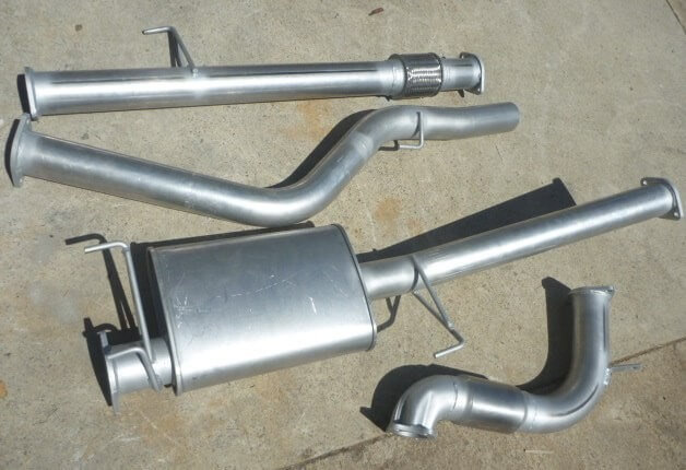 "Isuzu Dmax 3.0L 3"" Exhaust 4x4 2012 - 2015 Ute No Cat 409 Stainless Steel 3 inch Turbo Back Exhaust System - Click to enlarge picture."
