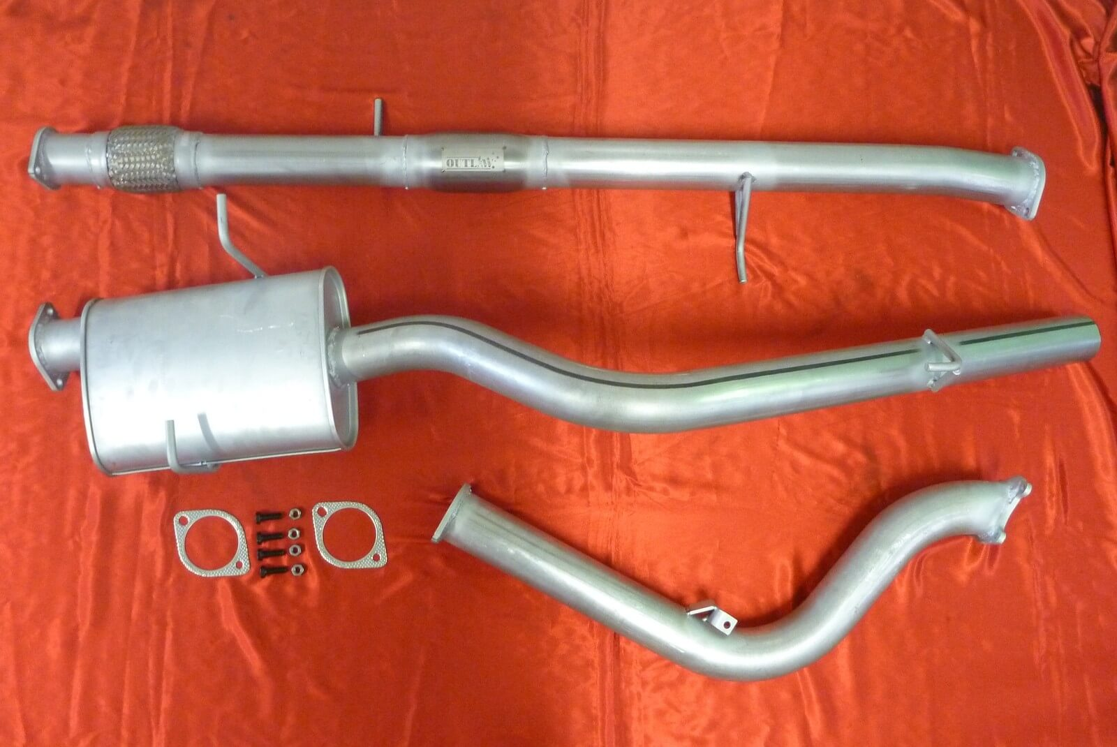 "Mazda Bravo B2500 3"" Exhaust 4x4 Turbo Diesel 2.5L Ute 1999 - 2006 with Cat 409 Stainless Steel 3 inch Turbo Back Exhaust - Click to enlarge picture."