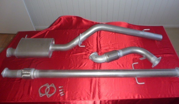 "Mitsubishi Triton ML 3"" Exhaust 4x4 Turbo Diesel 3.2L ute 2006 - 2009 No Cat 409 Stainless Steel 3 inch Turbo Back Exhaust - Click to enlarge picture."