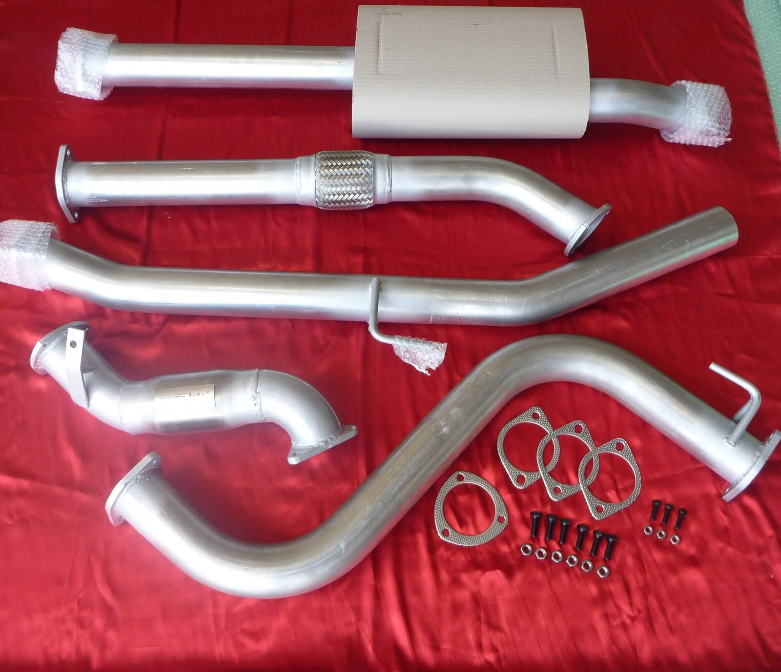 "Nissan Navara D40 3"" Exhaust 4x4 TD 2.5L Ute 2012-2013 4 cylinder manual with cat 409 Stainless Steel 3 inch Turbo Back Ex - Click to enlarge picture."