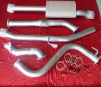 "Nissan Navara D40 3"" Exhaust 4x4 TD 2.5L Ute 2007 - 2010 Manual only No Cat 409 Stainless Steel 3 inch Turbo Back Exhaust"
