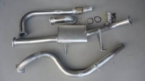 "Nissan Patrol GU Y61 3.0L Ute Coil Rear 3"" Exhaust 4x4 Turbo Diesel with cat 409 Stainless Steel 3 inch Turbo Back Exhaust - Click to enlarge picture."