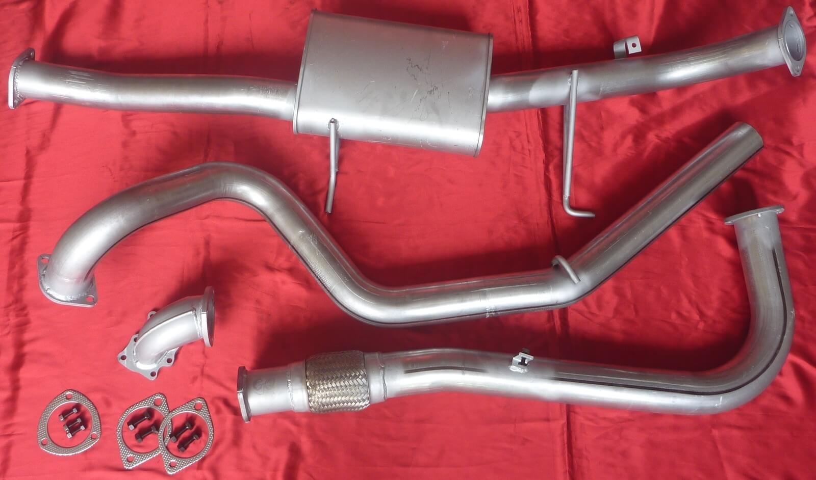 "Nissan Patrol GU Y61 4.2L Wagon 3"" Exhaust 4x4 Turbo Diesel 409 Stainless Steel 3 inch Turbo Back Exhaust System - Click to enlarge picture."