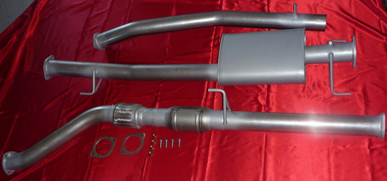 "Toyota Hilux Ute 3.0L 2005 - 2015 3"" Exhaust 4x4 Turbo Diesel No Cat 409 Stainless Steel 3 inch Turbo Back Exhaust System - Click to enlarge picture."